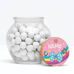"Party Bows Personalized 3"" Glass Sphere Jars (Set of 12)"