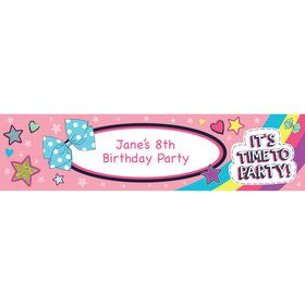 Party Bows Personalized Banner (Each)