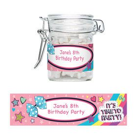 Party Bows Personalized Glass Apothecary Jars (12 Count)