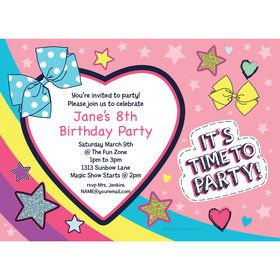 Party Bows Personalized Invitation (Each)