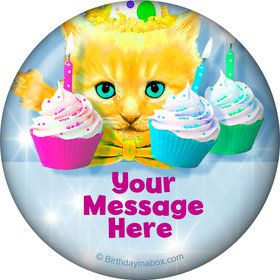 Party Cats Personalized Button (Each)