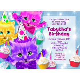 Party Cats Personalized Invitation (Each)