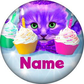Party Cats Personalized Mini Button (Each)