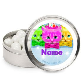 Party Cats Personalized Mint Tins (12 Pack)