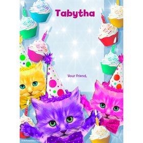 Party Cats Personalized Thank You (Each)