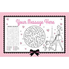 Party in Paris Personalized Activity Mat (Each)