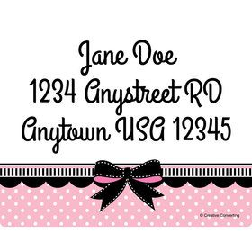 Party in Paris Personalized Address Labels (Sheet of 15)