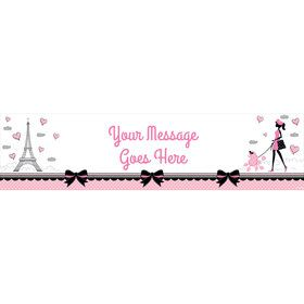 Party in Paris Personalized Banner (Each)