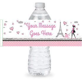 Party in Paris Personalized Bottle Label (Sheet of 4)
