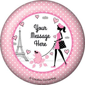 Party in Paris Personalized Button (Each)