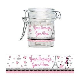 Party in Paris Personalized Glass Apothecary Jars (10 Count)