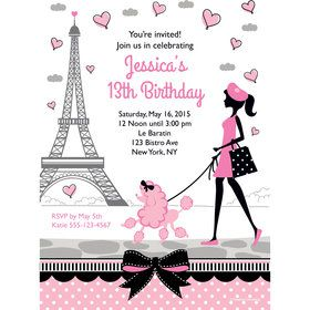 Party in Paris Personalized Invitation (Each)