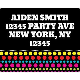 Party On Address Labels (Sheet Of 15)