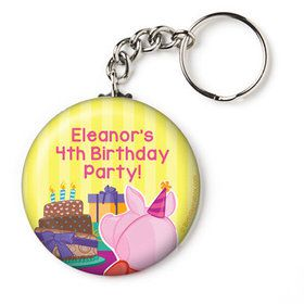 "Party Pig Personalized 2.25"" Key Chain (Each)"