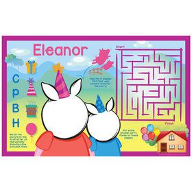 Party Pig Personalized Activity Mat (8 Count)