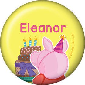 Party Pig Personalized Mini Button (Each)