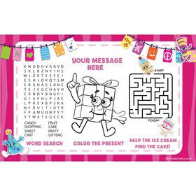 Partykin Personalized Activity Mat (8 Pack)