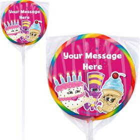 Partykin Personalized Lollipops (12 Pack)