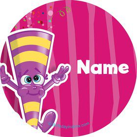 Partykin Personalized Mini Stickers (Sheet of 24)