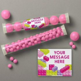 Pastel Block Party Personalized Candy Tubes (12 Count)