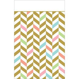 Pastel & Gold Herringbone Table Cover (1)