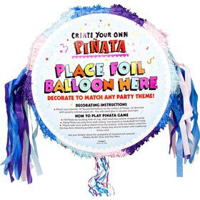 Pastel Pull-String Blank Pinata (Each)