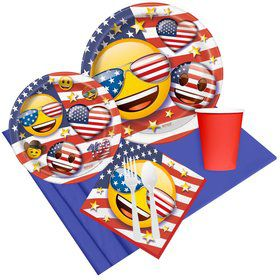 Patriotic Emoji Party Pack for 8