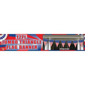 Patriotic Jumbo 12' Triangle Flag Banner