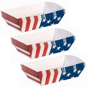 Patriotic Paper Trays (6 Count)