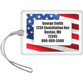 Patriotic Personalized Luggage Tag (Each)