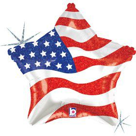"Patriotic Star 19"" Foil Balloon (Each)"