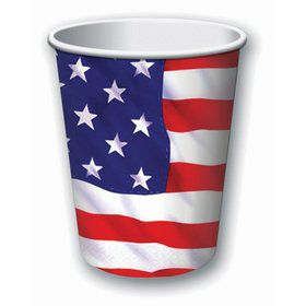 Patriotic Stars & Stripes 9oz. Cup (8)