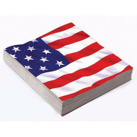 Patriotic Stars & Stripes Lunch Napkin (16)
