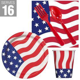Patriotic USA Flag Snack Pack for 16