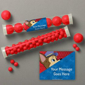 Paw Command Personalized Candy Tubes (12 Count)