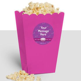 Paw Command Pink Personalized Popcorn Treat Boxes (10 Count)