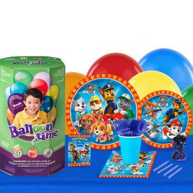Paw Patrol 16 Guest Party Pack - Tableware Helium Tank