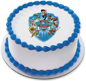 "Paw Patrol 7.5"" Round Edible Cake Topper (Each)"