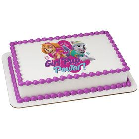 Paw Patrol Girl Pup Power Quarter Sheet Edible Cake Topper (Each)