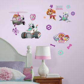 Paw Patrol Girl Pups Peel and Stick Wall Decals (30 Pieces)