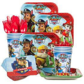 Paw Patrol Birthday Party Supplies Standard Tableware Kit (Serves 8)
