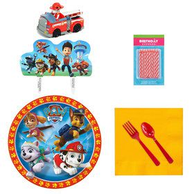 Paw Patrol Tableware and Cake Topper Kit (For 16 Guests)