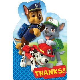 Paw Patrol Thank You Cards (8 Pack)