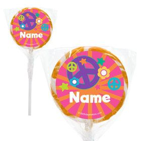 "Peace Love Birthday Personalized 2"" Lollipops (20 Pack)"
