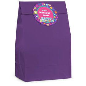 Peace Love Birthday Personalized Favor Bag (12 Pack)