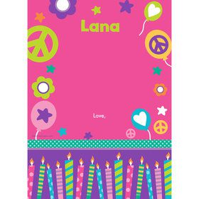 Peace Love Birthday Personalized Thank You (Each)