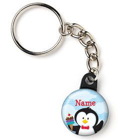 "Penguin Personalized 1"" Mini Key Chain (Each)"