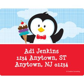 Penguin Personalized Address Labels (Sheet of 15)