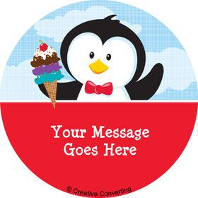 Penguin Personalized Mini Stickers (Sheet of 24)