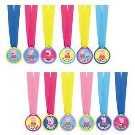 Peppa Pig Award Medals (12 Count)